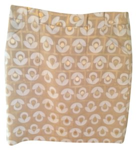 Etcetera Mini Skirt Gold Tan White