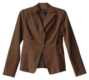 Banana Republic One Button Cotton brown Blazer