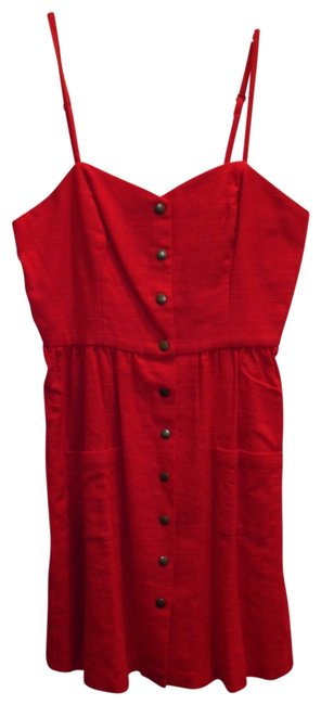 Item - Poppy Red Above Knee Short Casual Dress Size 8 (M)