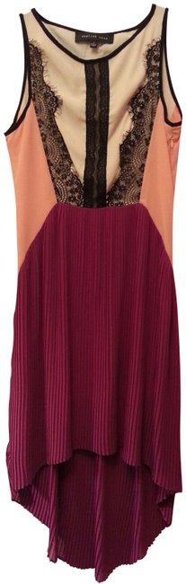 Item - Magenta High-low Night Out Dress Size 4 (S)