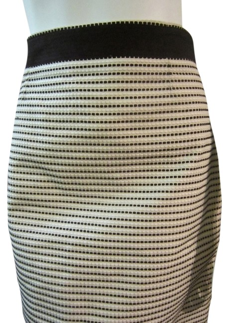 Brooks Brothers Pencil Size 6 Skirt Black and White