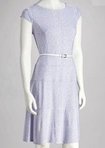 AA Studio short dress Purple (lavender) and White on Tradesy