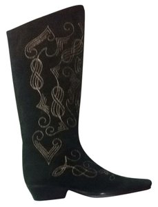 el vaquero Black with gold stitching Boots