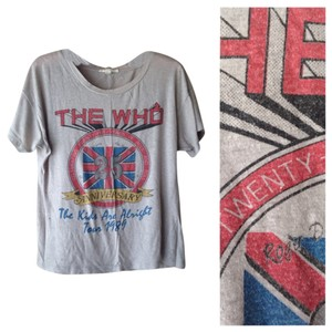 Forever 21 T Shirt Grey with The Who logo
