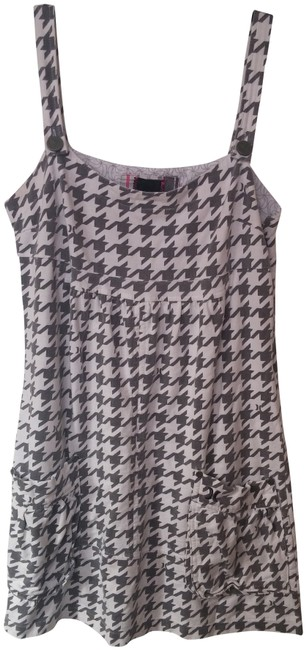 Hurley short dress White and Gray Houndstooth Jumper on Tradesy