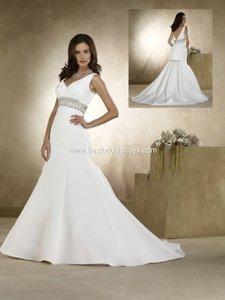 Forever Yours Ivory 48140 Wedding Dress Size 2 (XS)