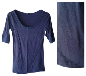 Zenana Outfitter Quarter-length Stretchy T Shirt Navy