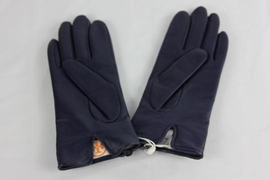 Tory Burch Tory Burch Leather Bow Gloves - Blue
