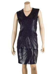 Jil Sander Jil Sander Purple Viscose Two Piece Sleeveless Sequin, Size 36 (40477)