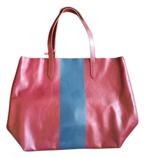 J.Crew Tote in red and gray