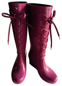 Saint Laurent Magenta Boots
