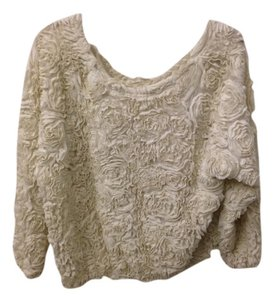 American Apparel Floral 3-d Sweater