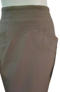 Jil Sander Pencil Size 40 Skirt Taupe
