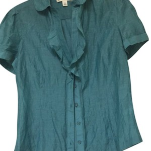 Banana Republic Button Down Shirt Aquamarine