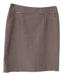 Tahari Pencil Polka Dot Skirt Navy and White