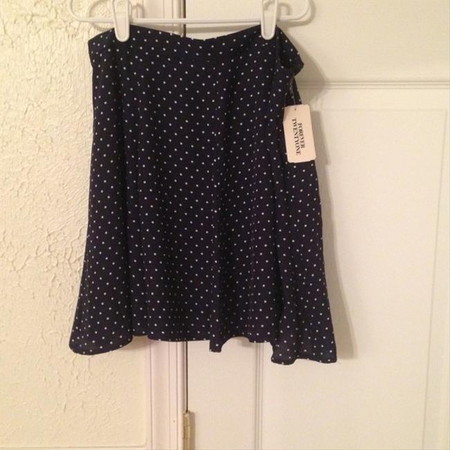 Forever 21 Flirty Flowy Polka Dot Mini Skirt Blue and White