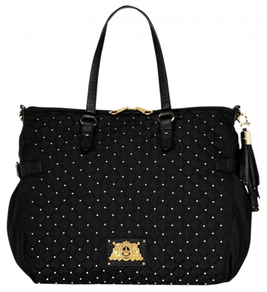 juicy couture studded tote bag black 41 off juicy couture totes tradesy. Black Bedroom Furniture Sets. Home Design Ideas