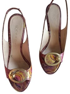 Casadei Pink/gold Pumps