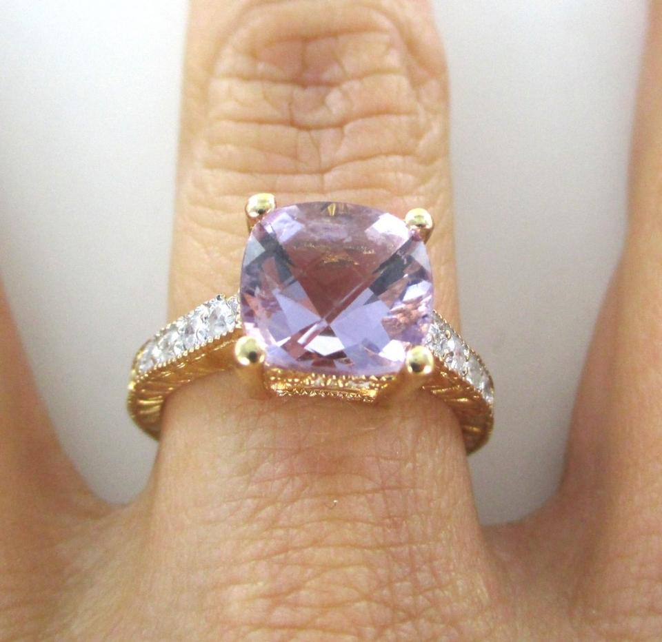 rings wedding engagement ring pretty stone diamond purple