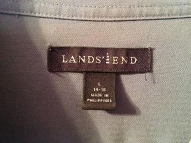 Lands' End Soft Stylish Top Dark French Blue