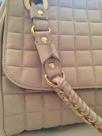 BCBGMAXAZRIA Quilted Leather Beige Travel Bag