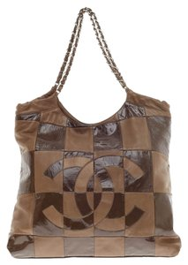Chanel Leather Brown Lambskin Tote