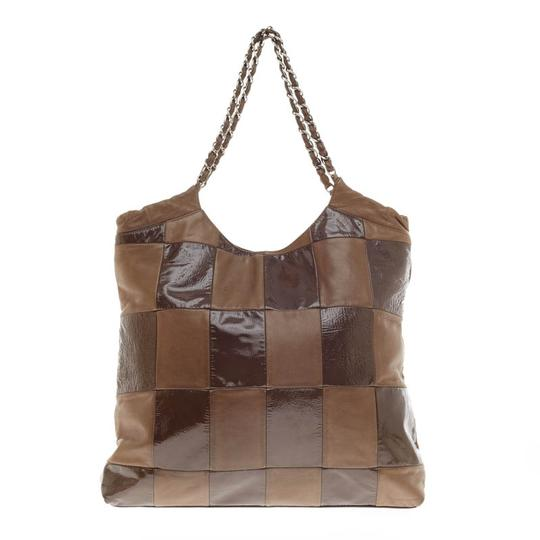Chanel Leather Brown Shoulder Lambskin Tote