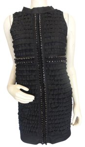 Robert Rodriguez Rhinestone Sequin Ruffle Dress