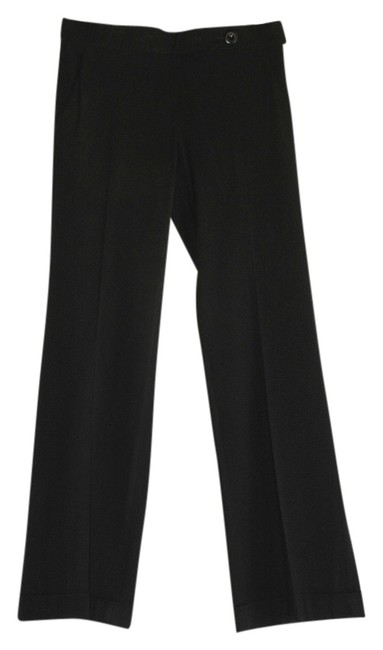 Emporio Armani Classic Office Wool Blend Wide Leg Pants black