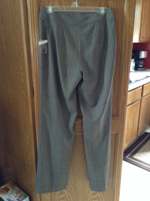 Other 70% Polyester 27% Rayon 3% Spandex Lining-100% Acetate Dry Clean Only Boot Cut Pants Grey with brown and black