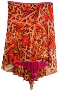 Diane von Furstenberg Skirt Fuchsia / Red / Brown