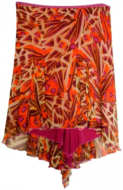 Item - Fuchsia / Red / Brown Dvf Skirt Size 6 (S, 28)
