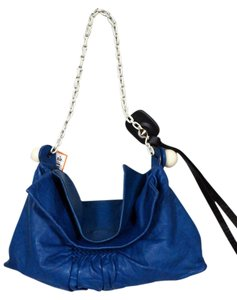 Chloé Chloe Leather Soft Leather Satchel in Blue