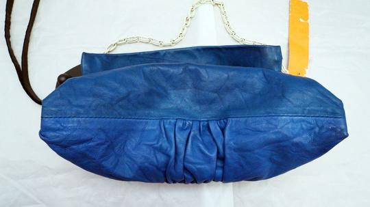 Chloé Chloe Leather Soft Leather Vintage Evening Clutch Satchel in Blue