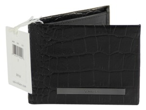 Calvin Klein * Calvin Klein Grain Leather Wallet - Black