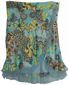 Laundry by Shelli Segal Skirt Turquoise / Yellow / Gold