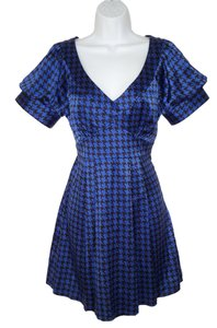 Betsey Johnson short dress Silk Geometric Satin Houndstooth on Tradesy