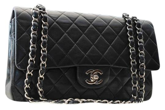 Preload https://item3.tradesy.com/images/chanel-255-reissue-255-reissue-classic-flap-classic-double-chain-black-lambskin-leather-shoulder-bag-4085167-0-4.jpg?width=440&height=440