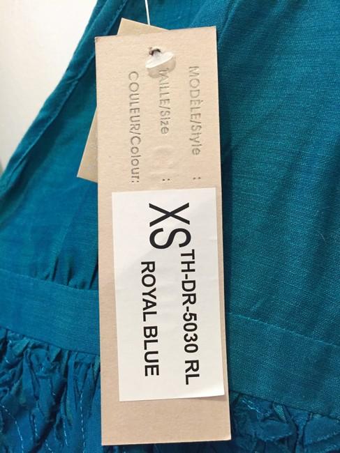 Chan Luu short dress Teal Blue Summer Embroidered Ribbon on Tradesy