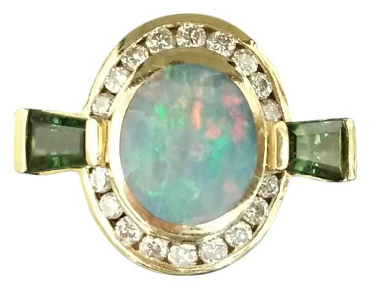 Bagley & Hotchkiss Opal Diamond and Tourmaline Ring! Very Rare style and design!