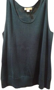 Coldwater Creek Camisole Sweater Set Green Top Jewel Tone Blue