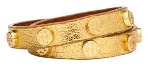 Tory Burch Tory Burch Gold Necklace Bracelet Metallic Leather