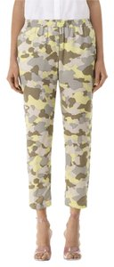 Club Monaco Army Camo 100% Silk Skinny Pants khaki