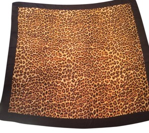 Tag missing Animal Print Silk Scarf