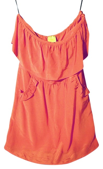Preload https://item1.tradesy.com/images/postella-orange-strapless-above-knee-night-out-dress-size-4-s-4085785-0-0.jpg?width=400&height=650