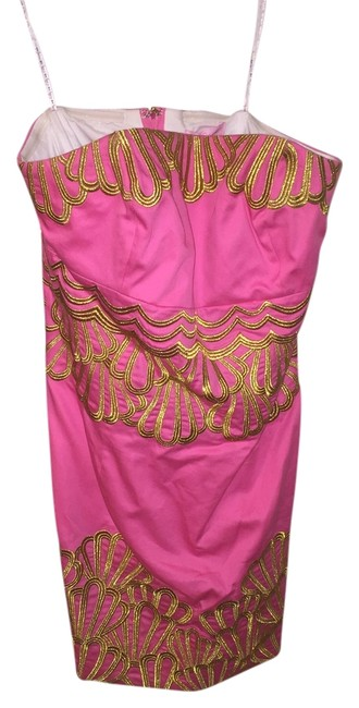 Lilly Pulitzer short dress Pink/Gold on Tradesy
