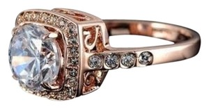 New size 8, 18k gold plated austrian crystal ring.