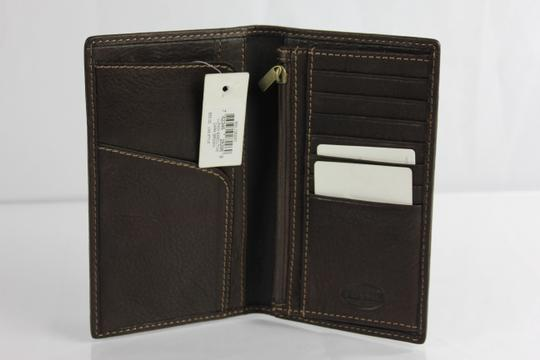 Fossil * Fossil Lufkin Executive Pebbled Leather Wallet - Dark Brown