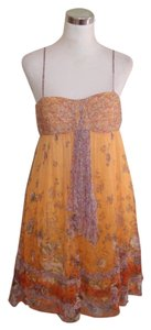 Decode 1.8 short dress Orange Spaghetti Strap Silk on Tradesy
