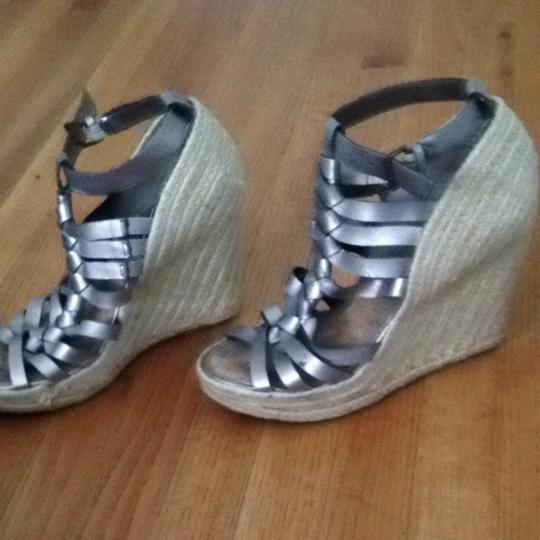 Enzo Angiolini Silver Wedges